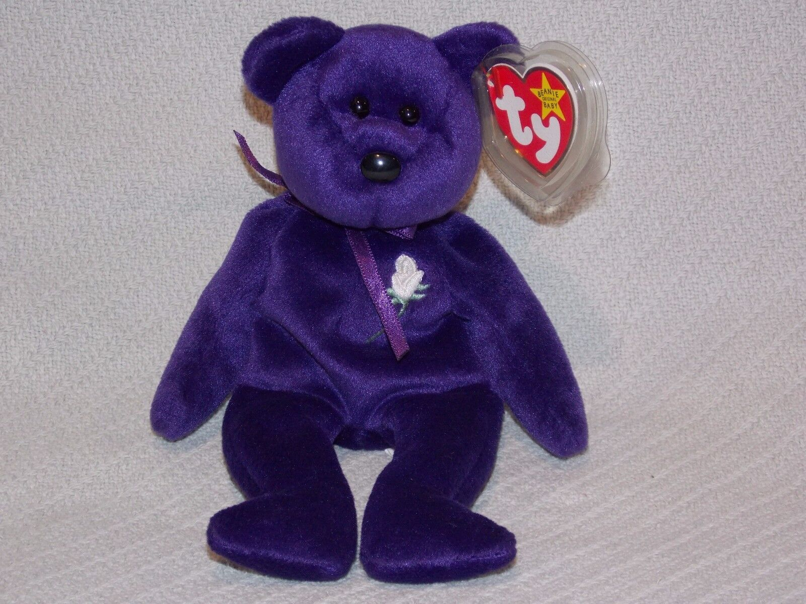 1997 Ty Beanie Baby Collection Princess  Princess Diana   Royal Purple  Tags