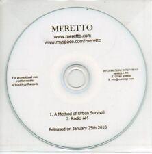 (AL847) Meretto, A Method of Urban Survival - DJ CD
