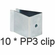 10 x Battery Mounting Clip PP3 9V PCB mount batteries holder