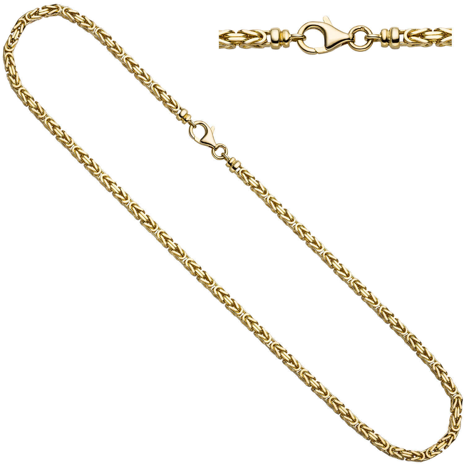 0 1 8in King's Chain Collier made of 585 gold Yellow gold, solid, 31 1 2in,