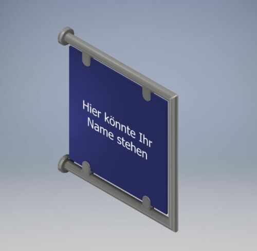 Stainless Steel company sign Advertising Sign Mod C 42,4 Pipe advertising sign info stands