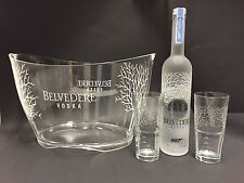 Belvedere Vodka Set 007 James Bond 0,7l Flasche + 2 Gläser + Kühler 40%Vol.