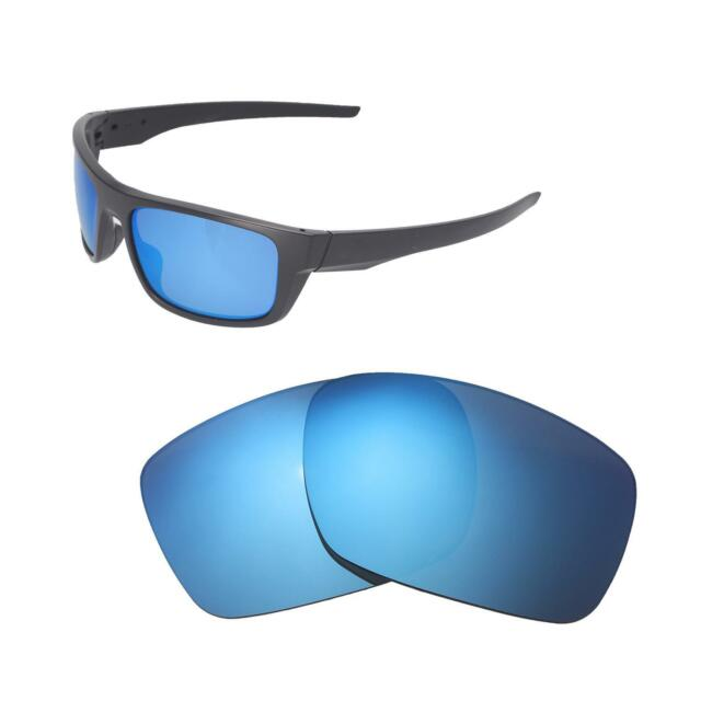 cfc3211eb98 Walleva Ice Blue Polarized Replacement Lenses For Oakley Drop Point  Sunglasses