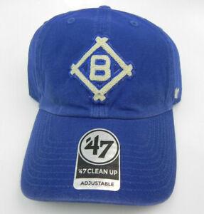 BROOKLYN DODGERS COOPERSTOWN VTG STRAPBACK '47 BRAND CLEAN UP DAD HAT CAP NEW!