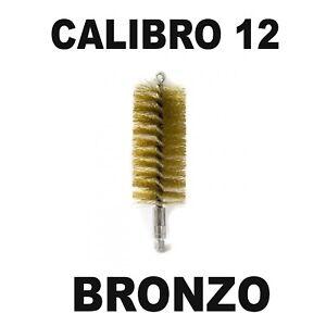 SCOVOLO-IN-BRONZO-SCOVOLINO-RICCIO-PER-PULIZIA-CANNA-FUCILE-CALIBRO-12