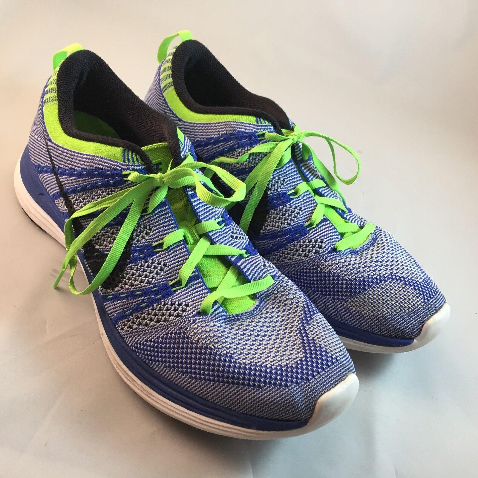 MINT Nike Flyknit Lunar +1 Men's Sz 9, 42.55 EUR Blue Green White 150