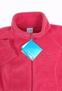 COLUMBIA-Womens-Salmon-Long-Sleeve-Polyester-Fur-Fleece-Jacket-Size-Large-NWT