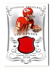 Len-Dawson-NFL-2014-Panini-National-Treasures-materiaux-49-Kansas-City-Chiefs