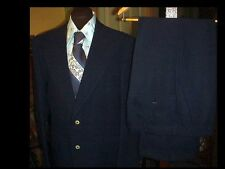 Vintage MEN'S Polyester Disco Leisure SUIT 40 w/ SEARS 33 Slacks w/ Shirt & Tie