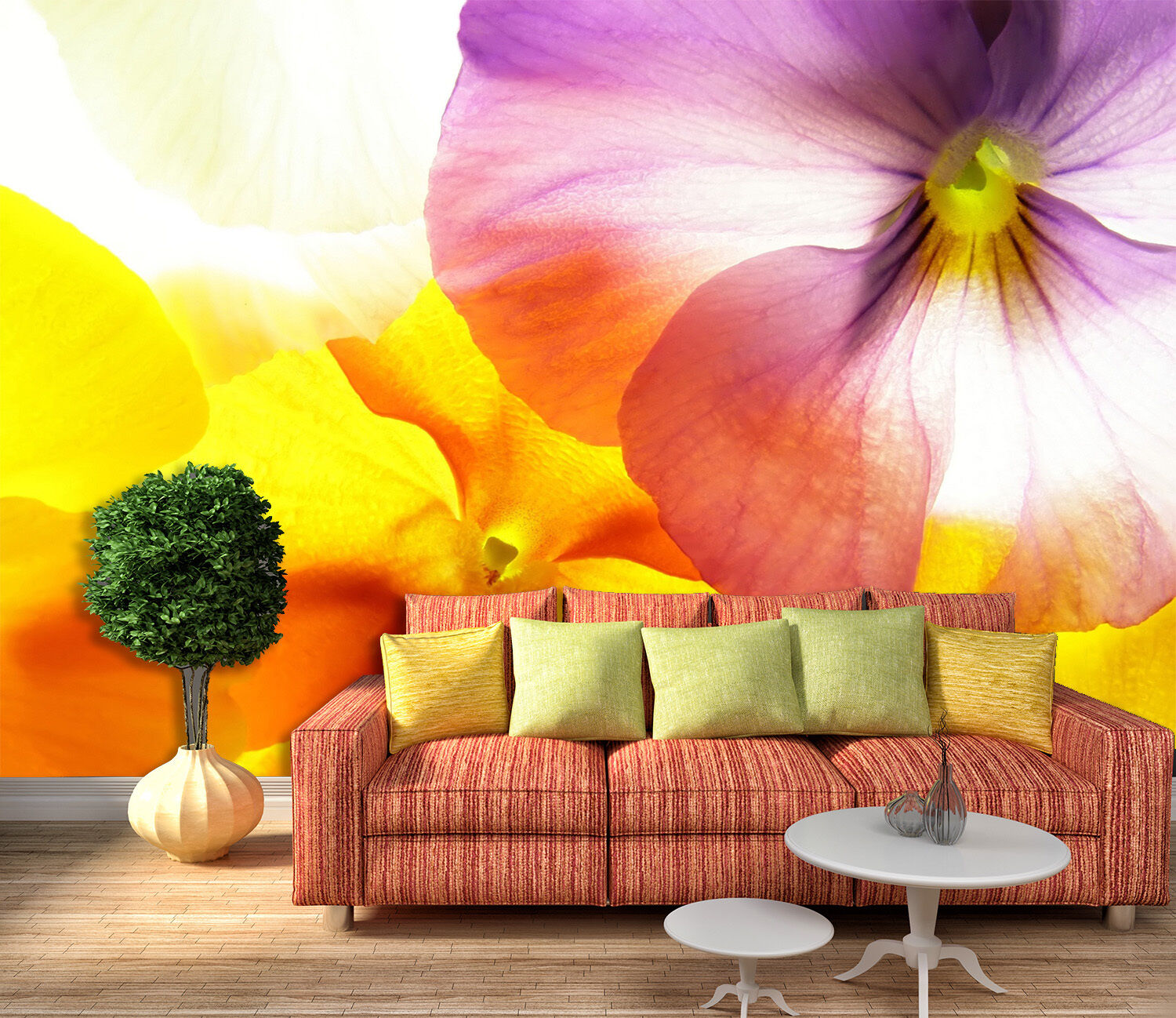 3D Charming flowers 3232 Wall Paper Print Wall Decal Deco Indoor Wall Murals