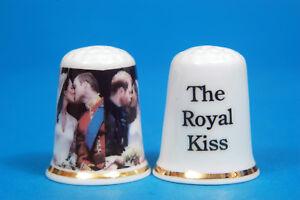 The-Royal-Kiss-Princes-William-amp-Harry-Wedding-Day-Kiss-China-Thimble-B-15