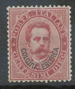 ITALIAN-ERITREA-1893-King-Umberto-I-10-C-overprint-Colonia-Eritrea-UNUSED-NO-GUM