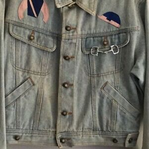 Details about womens jean jacket    Customized Horse and Jockey lovers