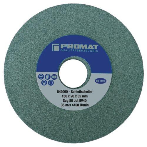 Schleifbockscheibe D.125xB20x32mm fein 80 Form A SCg PROMAT