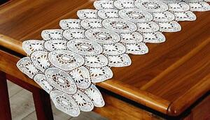 Vintage-cotton-crochet-flora-lace-table-runner-evide-mariage-table-runner
