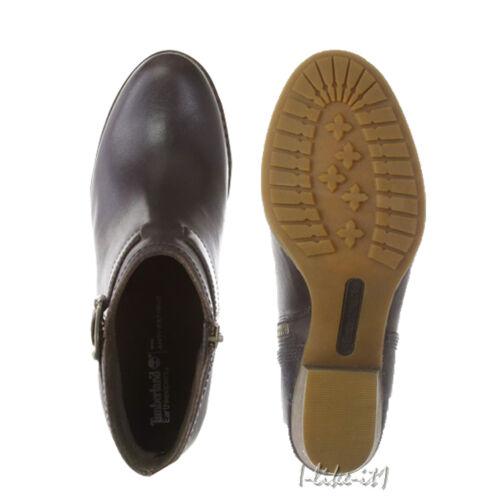 Timberland Ankle Damen Brown Boot Heeled 8337a Schuhe Dress Dark Ek Birchmont rrxqPgd