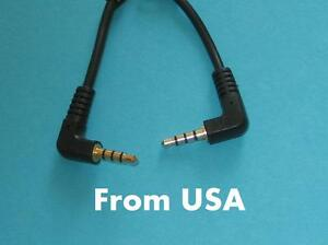 Universal Short 30cm 1ft 3.5mm Right Angle Male to Male TRS Stereo Audio Cable