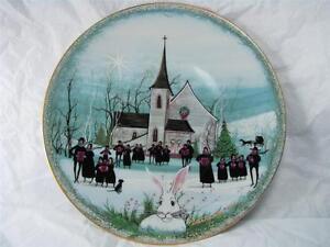 ANNA-PERENNA-BUCKLEY-MOSS-034-CHRISTMAS-CAROL-034-PORCELAIN-ART-PLATE-NEW-MIB-1531