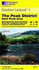 The Peak District: Dark Peak Area by Ordnance Survey (Sheet map, folded, 1995)