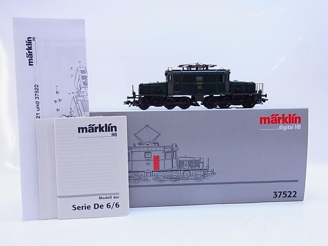 Lot 56930   Märklin h0 37522 e-Lok serie de 6 6 de cocodrilo SBB digital en OVP