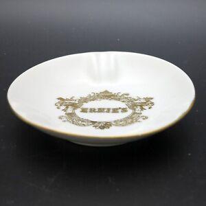 Vintage Restaurant Ashtray Ernie's San Francisco White Porcelain