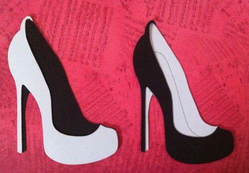Black /& White Stunning High Heeled Shoe Die-Cuts