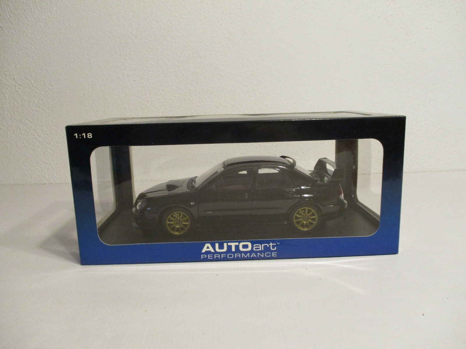 ( Gok ) 1 18 Autoart Subaru Impreza Wrx Sti 2006 Negro Nuevo Emb. Orig.