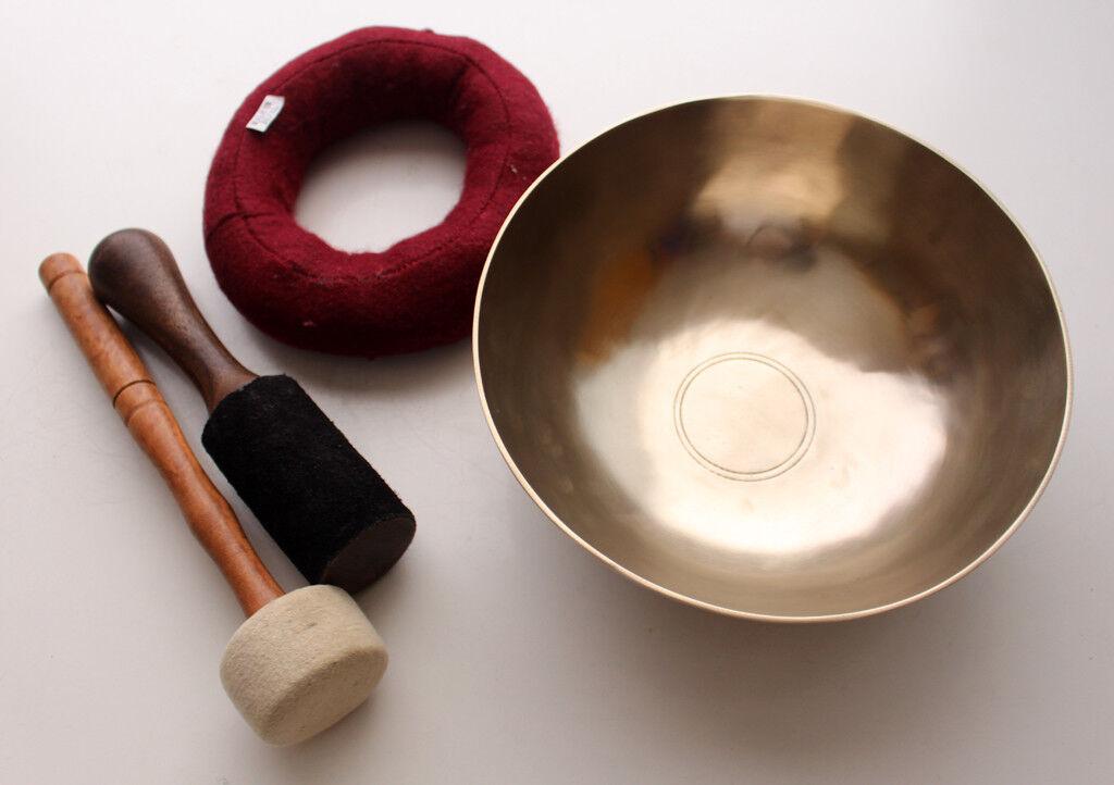 Tibetischer Healing Zen Sing Bowl mit Kissen und Thick Mallet NoteF