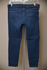 AG-Adriano-Goldschmied-The-Stilt-Cigarette-Leg-Skinny-Jeans-Dark-Wash-Women-039-s-30