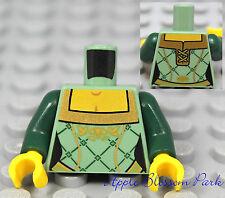 NEW Lego Female/Girl Princess MINIFIG TORSO - Green w/Gold Kingdoms Castle Queen
