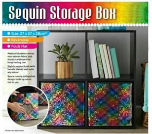 New Foldable Collapsible Storage Cube Basket Bin Box Organizer Fabric Fold Flat
