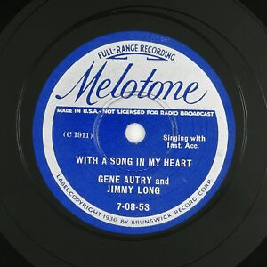 GENE-AUTRY-JIMMY-LONG-With-A-Song-In-My-Heart-When-The-Golden-10in-1933-COUNTRY