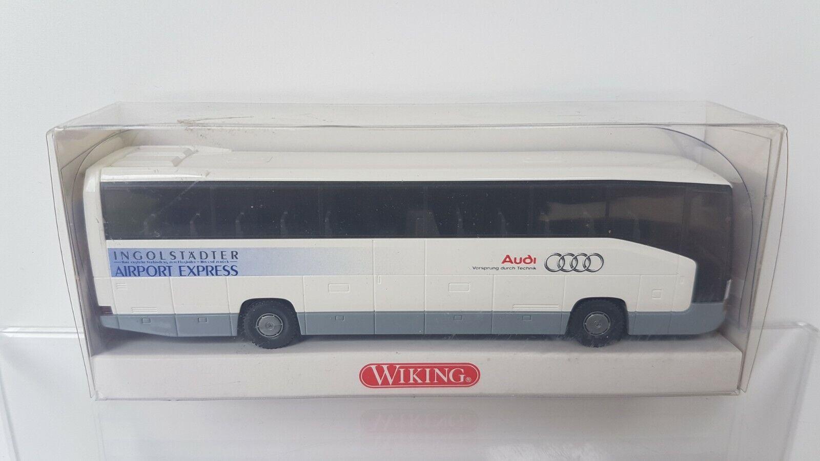 H0  OVP Wiking 7140836 MB O 404 RHD  Bus Airport Express Ingolstadt Audi  1:87