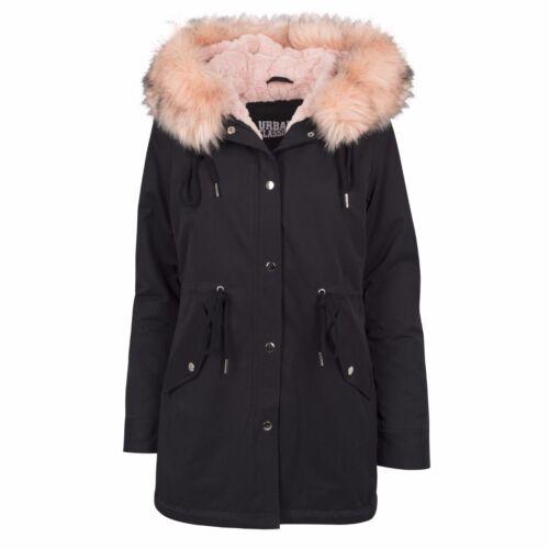 Fur Urban Classics per Winter Cappotto Xs donna Parka Cappotto Plush Hood q8F6Hx