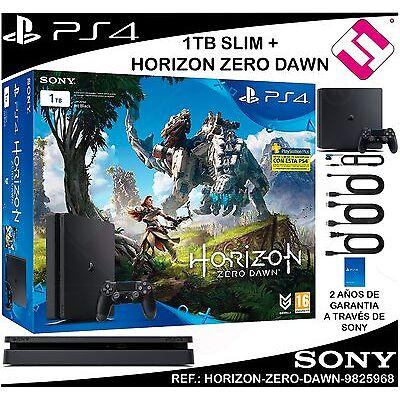 VIDEOCONSOLA SONY PS4 PLAYSTATION 4 1TB SLIM HORIZON ZERO DAWN OFERTA TOP VENTA