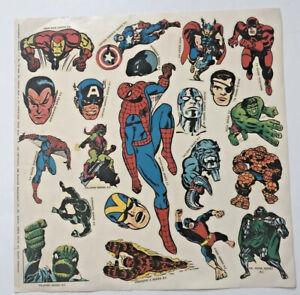 Make Mine Marvel Fan Club stickers full sheet original-vintage 1966-Marvelmania