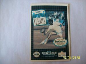 AMAZING-TENNIS-Sega-Genesis-Vidpro-Card