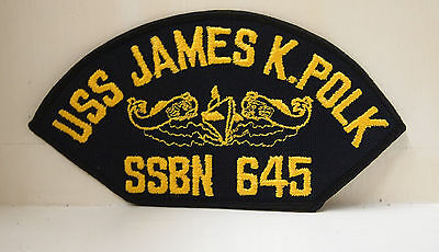 USS James K. Polk SSBN SSN 645 yellow Submarine Bordered Patches USN USA US NAVY