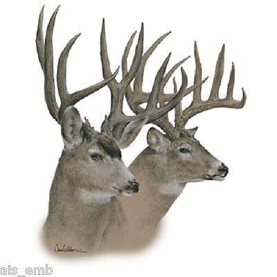 Whitetail Deer HEAT PRESS TRANSFER for T Shirt Tote Sweatshirt Quilt Fabric 234b