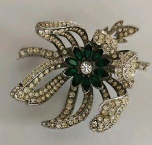 Vintage-rhinestone-flower-brooch