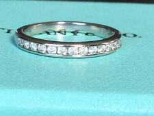 TIFFANY & CO PLATINUM 2.4 mm DIAMOND WEDDING RING .21CT Retail $2725 SIZE 6