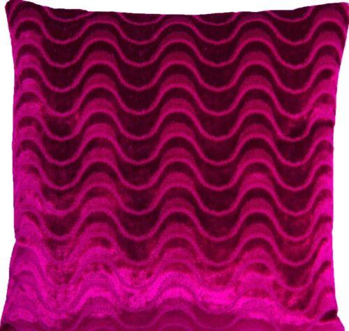 "Raspberry Cushion Cover Designers Guild Velvet Fabric Marlia Square 16/"" 18/"" 20/"""