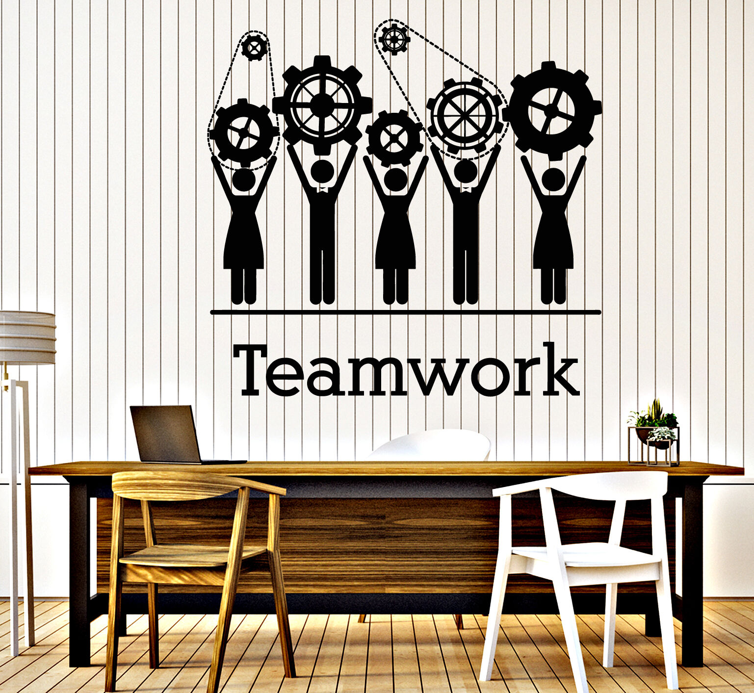 Wall Vinyl Decal Team Business Work Teamwork Office Decor z4703