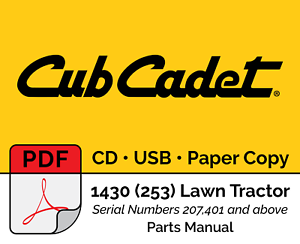 image is loading cub-cadet-1430-253-lawn-tractor-parts-manual-