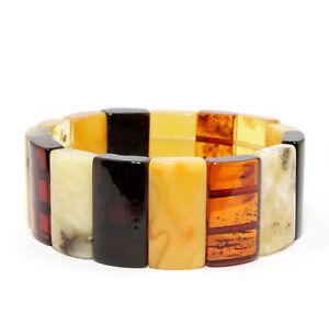 Einzigartig-Luxurioes-Baltischer-Bernstein-Armband-Multicolor