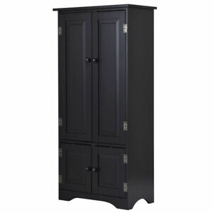 Fabulous Details About Accent Storage Cabinet Adjustable Shelves Antique 2 Door Floor Cabinet Black Interior Design Ideas Clesiryabchikinfo