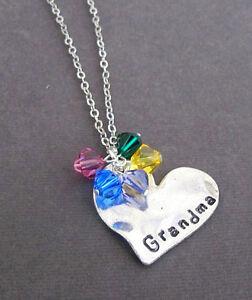 personalized grandma necklace grandma jewelry gift for granny mom