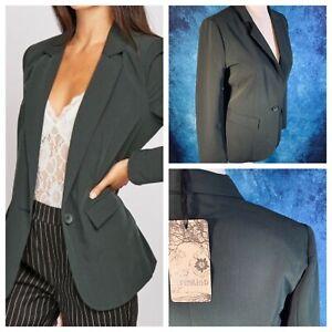 K-Y-creazione-Donna-Verde-Giacca-Taglia-16-18-T5-Tasche-Foderato-SMART-Blazer-NUOVO