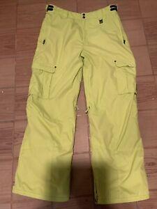 Para Hombres Pantalones De Snowboard Billabong Chartreuse Tamano Xl Ce Ebay