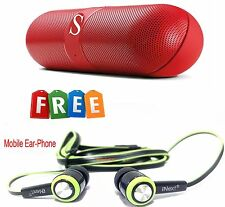 Pill, Capsule Wireless Bluetooth Stereo Speaker + iNext Super Bass Ear-Phone